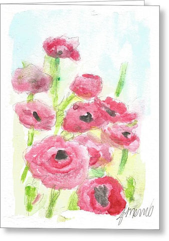 Pink Poppy Dream - Greeting Card