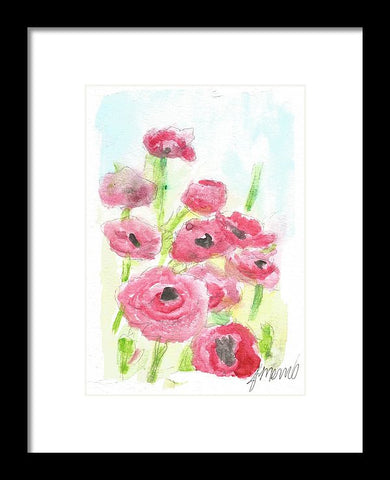 Pink Poppy Dream - Framed Print
