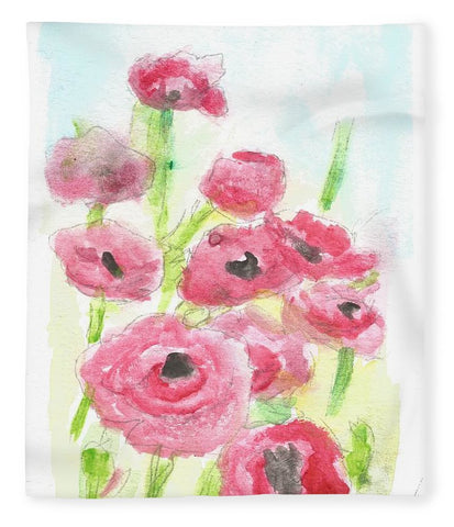 Pink Poppy Dream - Blanket