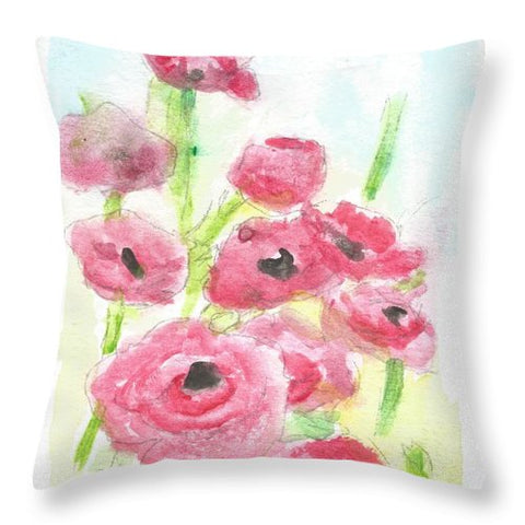 Pink Poppy Dream - Throw Pillow