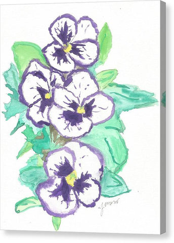 Purple Pansy Power - Canvas Print
