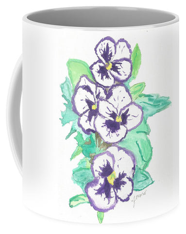 Purple Pansy Power - Mug