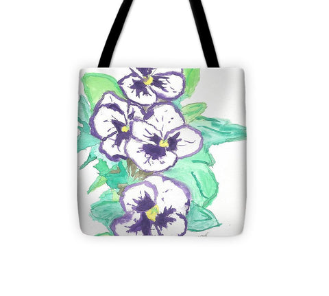 Purple Pansy Power - Tote Bag