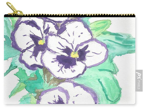 Purple Pansy Power - Carry-All Pouch