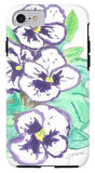 Purple Pansy Power - Phone Case