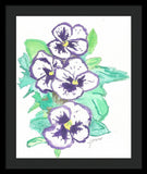 Purple Pansy Power - Framed Print
