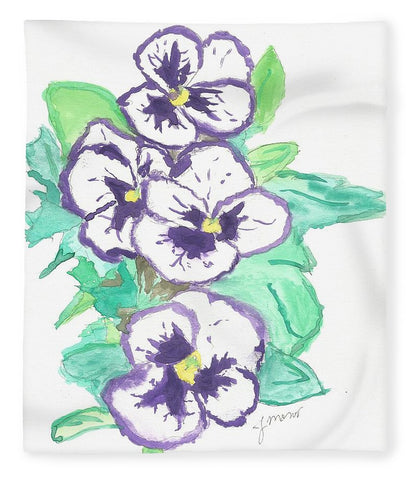 Purple Pansy Power - Blanket