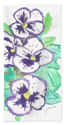 Purple Pansy Power - Bath Towel