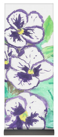 Purple Pansy Power - Yoga Mat