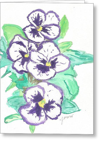 Purple Pansy Power - Greeting Card