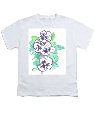 Purple Pansy Power - Youth T-Shirt