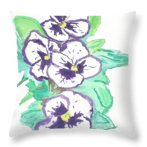 Purple Pansy Power - Throw Pillow