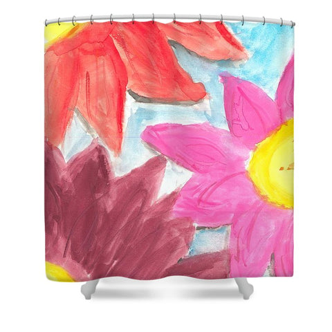 Sea Of Flowers - Shower Curtain