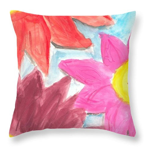 Sea Of Flowers - Throw Pillow