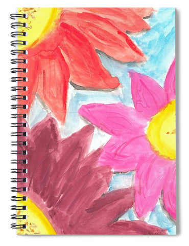 Sea Of Flowers - Spiral Notebook
