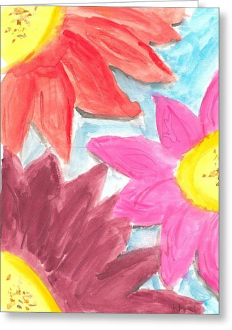 Sea Of Flowers - Greeting Card