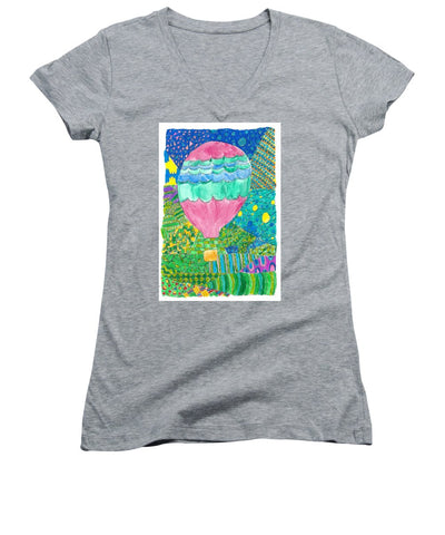 Way Up In The Clouds - Women's V-Neck