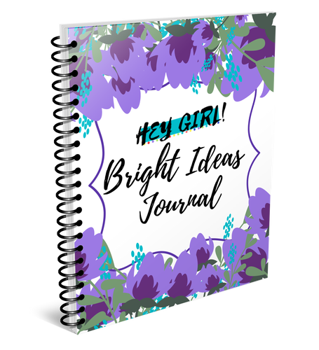 Hey Girl! Bright Ideas Journal in Candytuft (Digital)