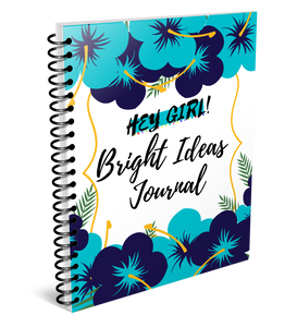 Hey Girl! Bright Ideas Journal in Bellflower (Digital)