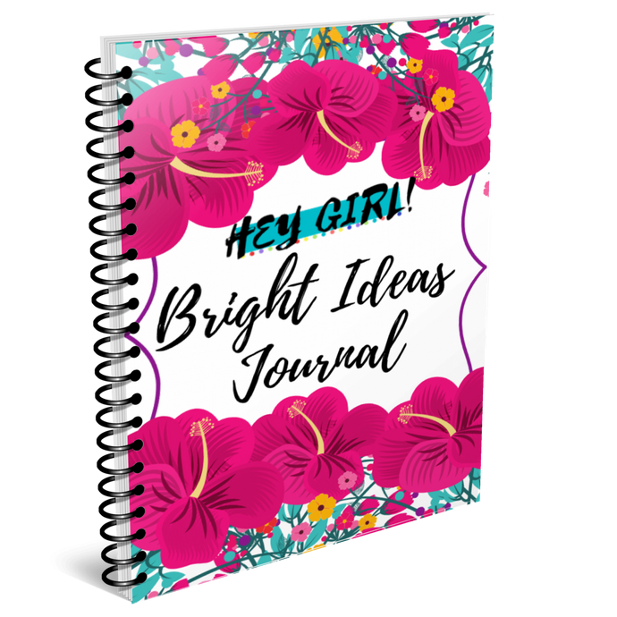 Hey Girl! Bright Ideas Journal in Peony (Digital)