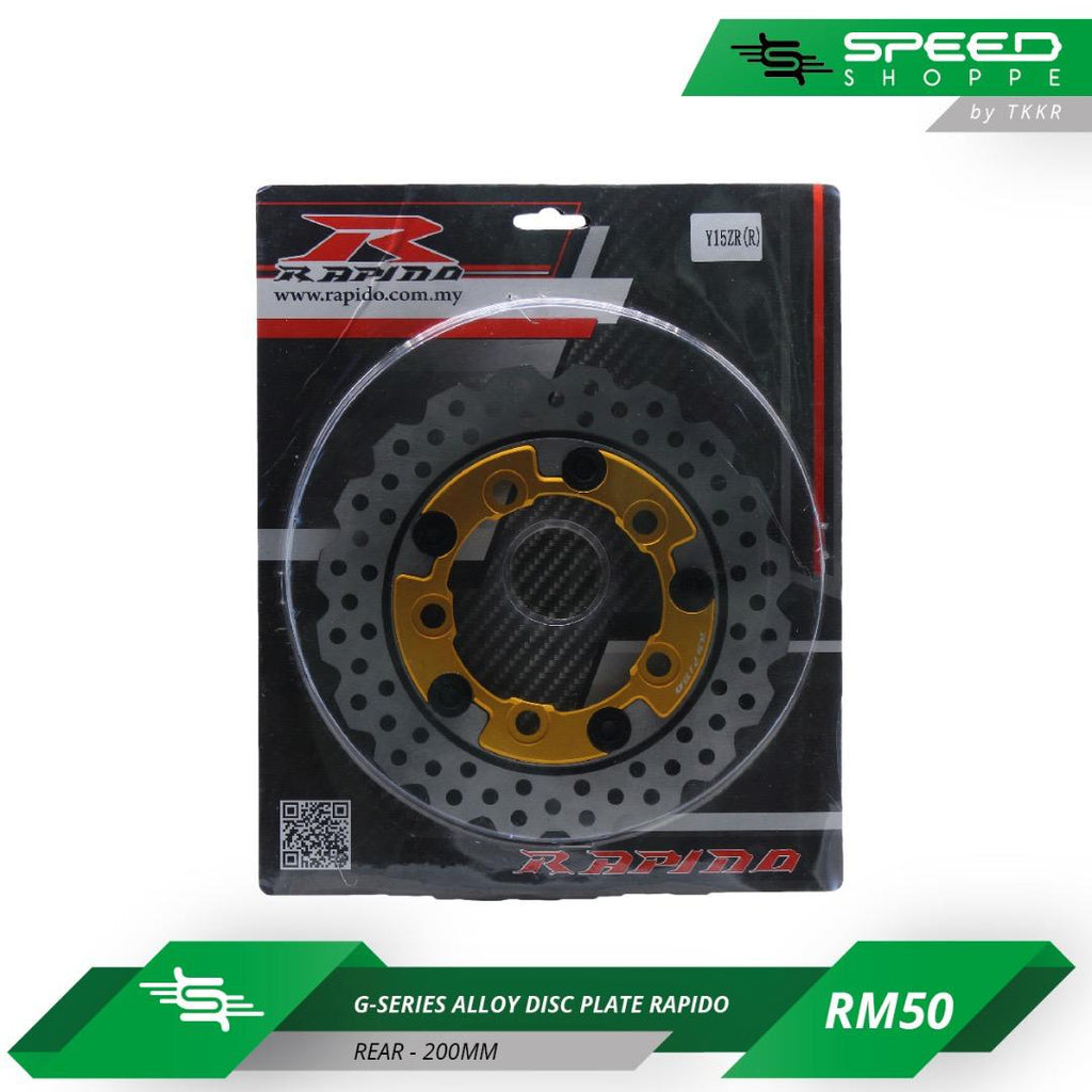 G-Series Alloy Disc Plate Rapido (Rear-200mm)