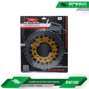 G-Series Alloy Disc Plate Rapido (Front-290mm)
