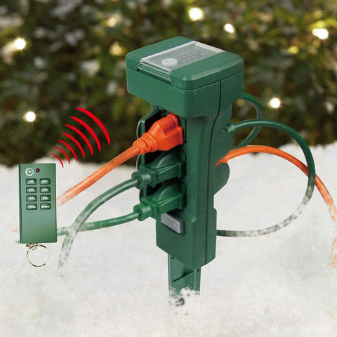 outdoor christmas light switch & timer