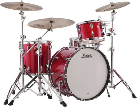 Ludwig Classic Maple Pro Beat 24 Shell Pack - Red Sparkle