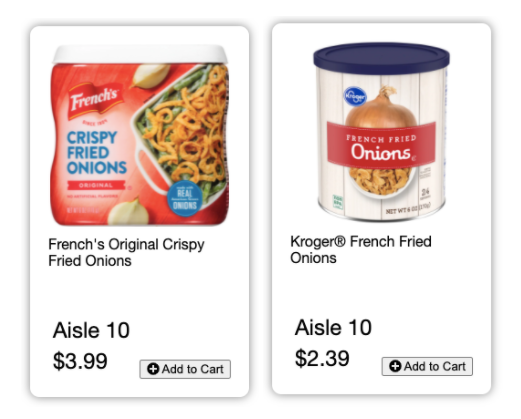 What Aisle are French's Fried Onions In? French's Fried Onions Kroger Aisle