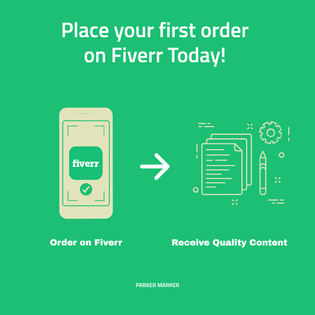 place your first order on fiverr