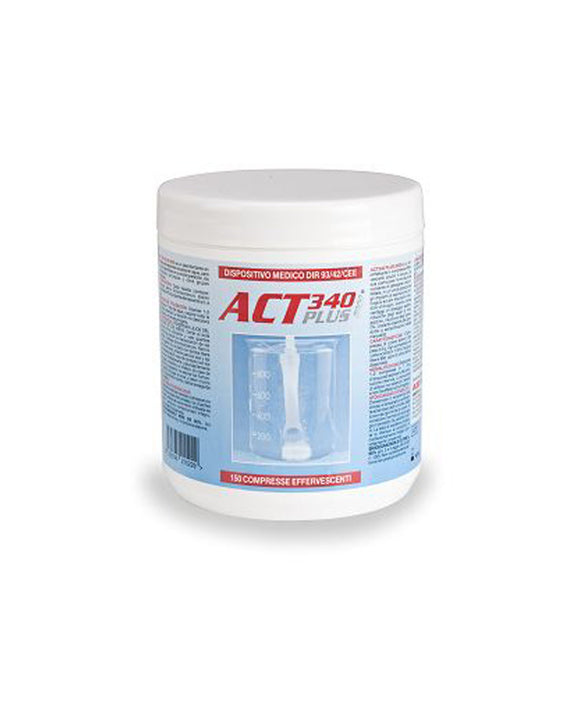 ACT 340 plus 2000 compresse 150 pz - Disinfettante decontaminante specifico per circuiti di aspirazione