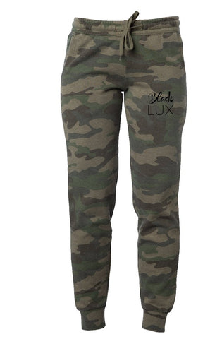 LADIES CAMO LUX JOGGERS,Apparel- BLACKLUX