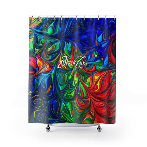 Vibrancy Shower Curtains - BLACKLUX