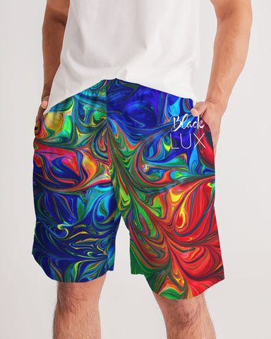 Vibrancy Men's Jogger Shorts,Apparel- BLACKLUX
