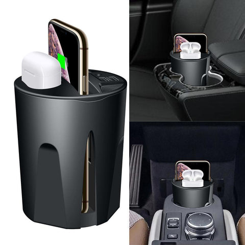 696 X9 QI Car Wireless fast Charger cup for iphone Charge holder/Stand for Apple XS MAX/XR/X/8 PLUS for Samsung note10/9 - BLACKLUX