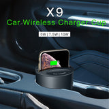 696 X9 QI Car Wireless fast Charger cup for iphone Charge holder/Stand for Apple XS MAX/XR/X/8 PLUS for Samsung note10/9,Phone & Tablet Cases- BLACKLUX