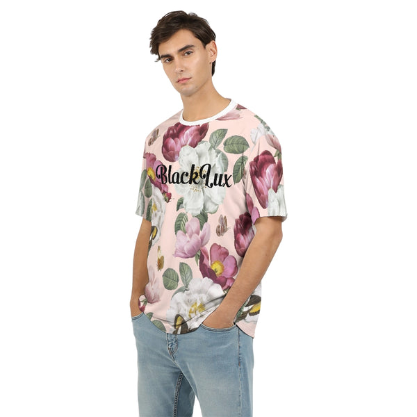 Peach Floral Men's Tee - BLACKLUX