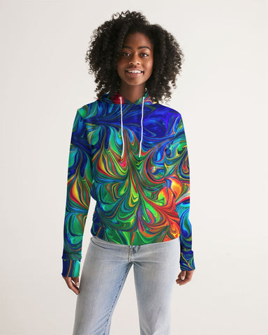 Vibrancy Women's Hoodie,Apparel- BLACKLUX