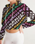 MULTI LUX Women's Cropped Hoodie,Apparel- BLACKLUX