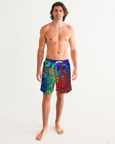 Vibrancy Men's Swim Trunk,Apparel- BLACKLUX
