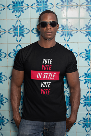 VOTE IN STYLE Tee,Apparel- BLACKLUX