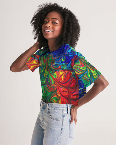 Vibrancy Women's Lounge Cropped Tee - BLACKLUX