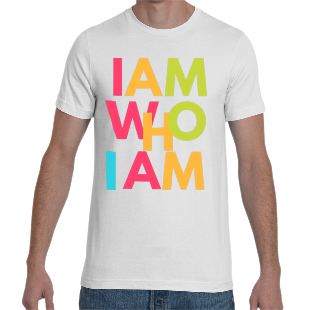 I AM WHO I AM T-SHIRT,APPAREL- BLACKLUX