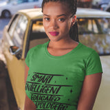 Smart Intelligent Educated Unapologetic Black Woman T-Shirt - BLACKLUX