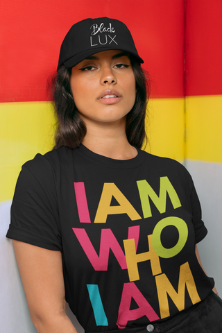 I AM WHO I AM T-SHIRT - BLACKLUX