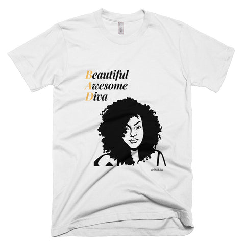 B.A.D. Beautiful Awesome Diva Tee,Apparel- BLACKLUX