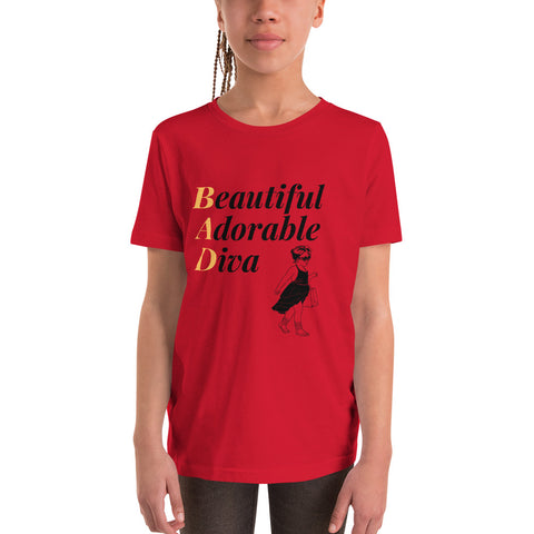 Beautiful Adorable Diva Youth T-Shirt - BLACKLUX