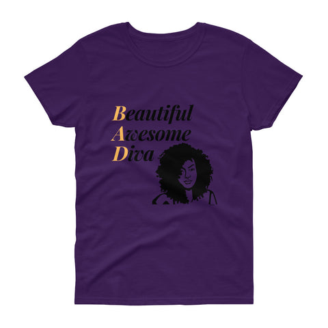 B.A.D. Beautiful Awesome Diva Purple,Apparel- BLACKLUX