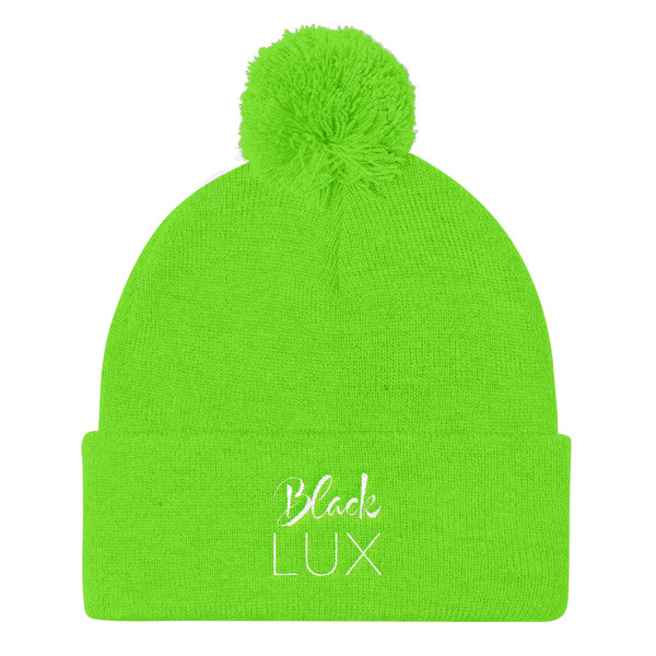 Lux Knit Cap (white lettering various colors),Apparel- BLACKLUX