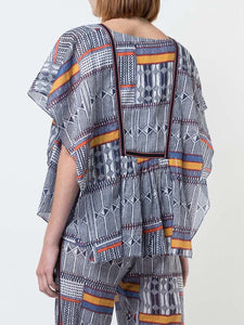 Kente Drape Top